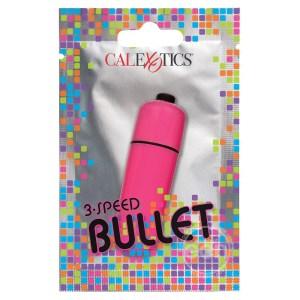 Foil Pack 3-Speed Bullet Vibrator Pink