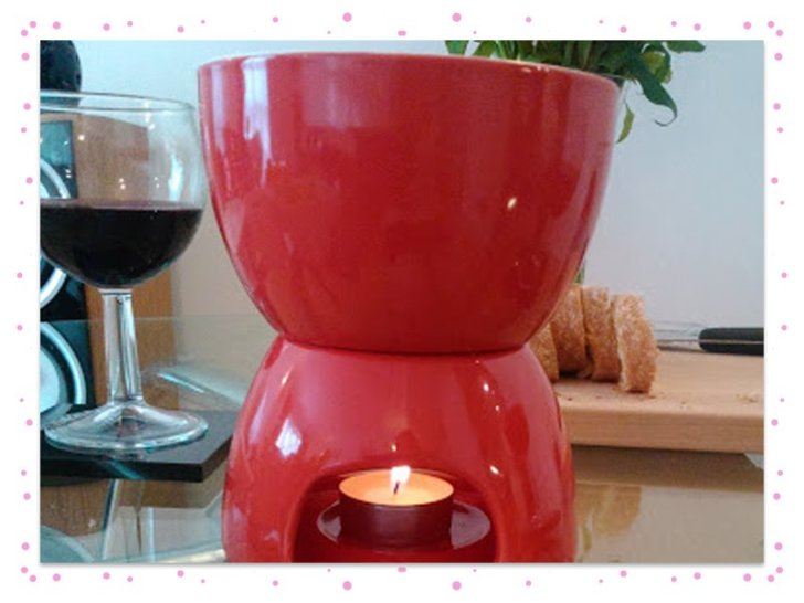Cheese fondue candle