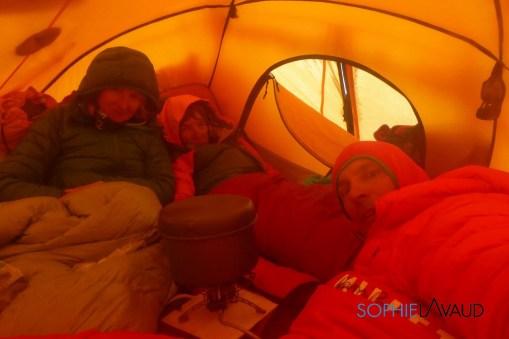 Camp 3 : Andreas, François, et Sophie