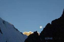 lune au départ pour le Camp 1