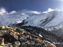 le Kangchenjunga, vu depuis le camp de base