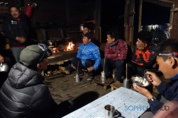 sherpas drinking tomba