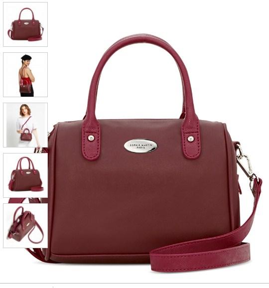 tas merah hati untuk wanita