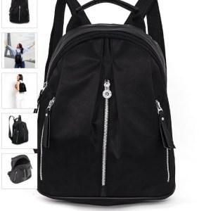 tas punggung wanita hitam