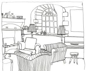 Salon club du manoir de la Manantie