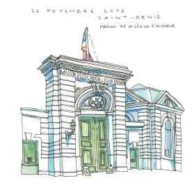 Porte de la maison d'éducation de la légion d'honneur à St-Denis