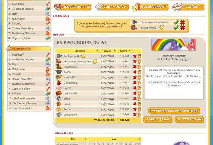 Graphisme web interface Prizee.com