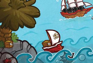 Rames & Rhum: illustrations et graphisme jeu Facebook