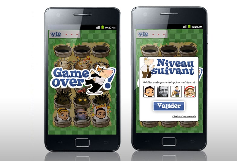 Jeu Tapes Potes android et i-phone