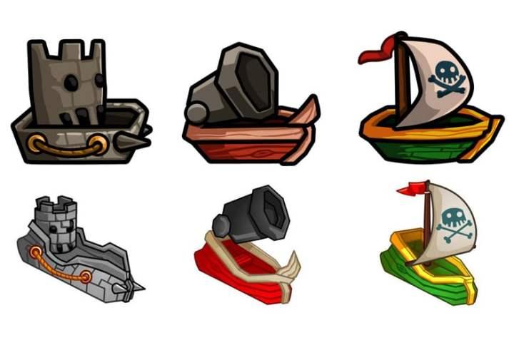 War of Rum bateaux des joueurs