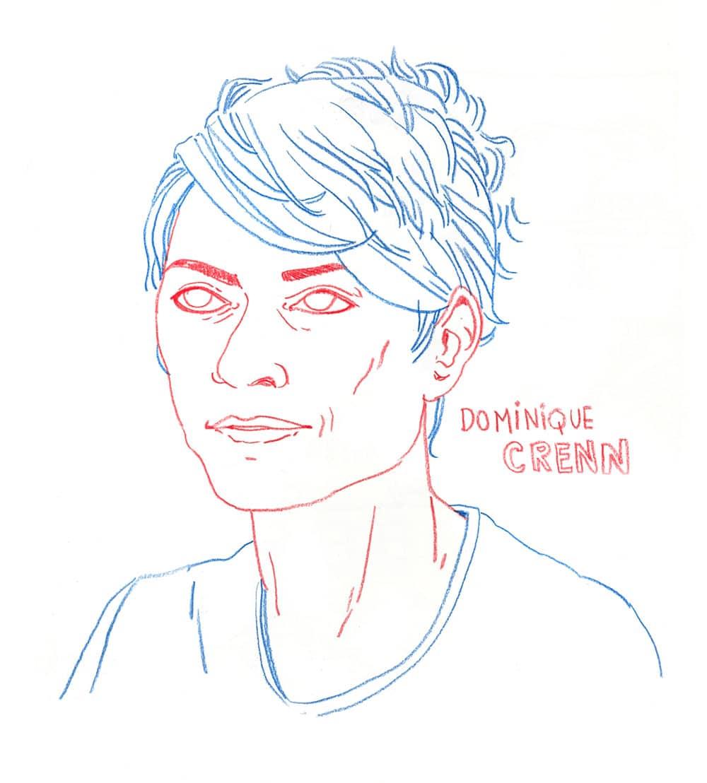 Illustration Chefs de cuisine Dominique Crenn