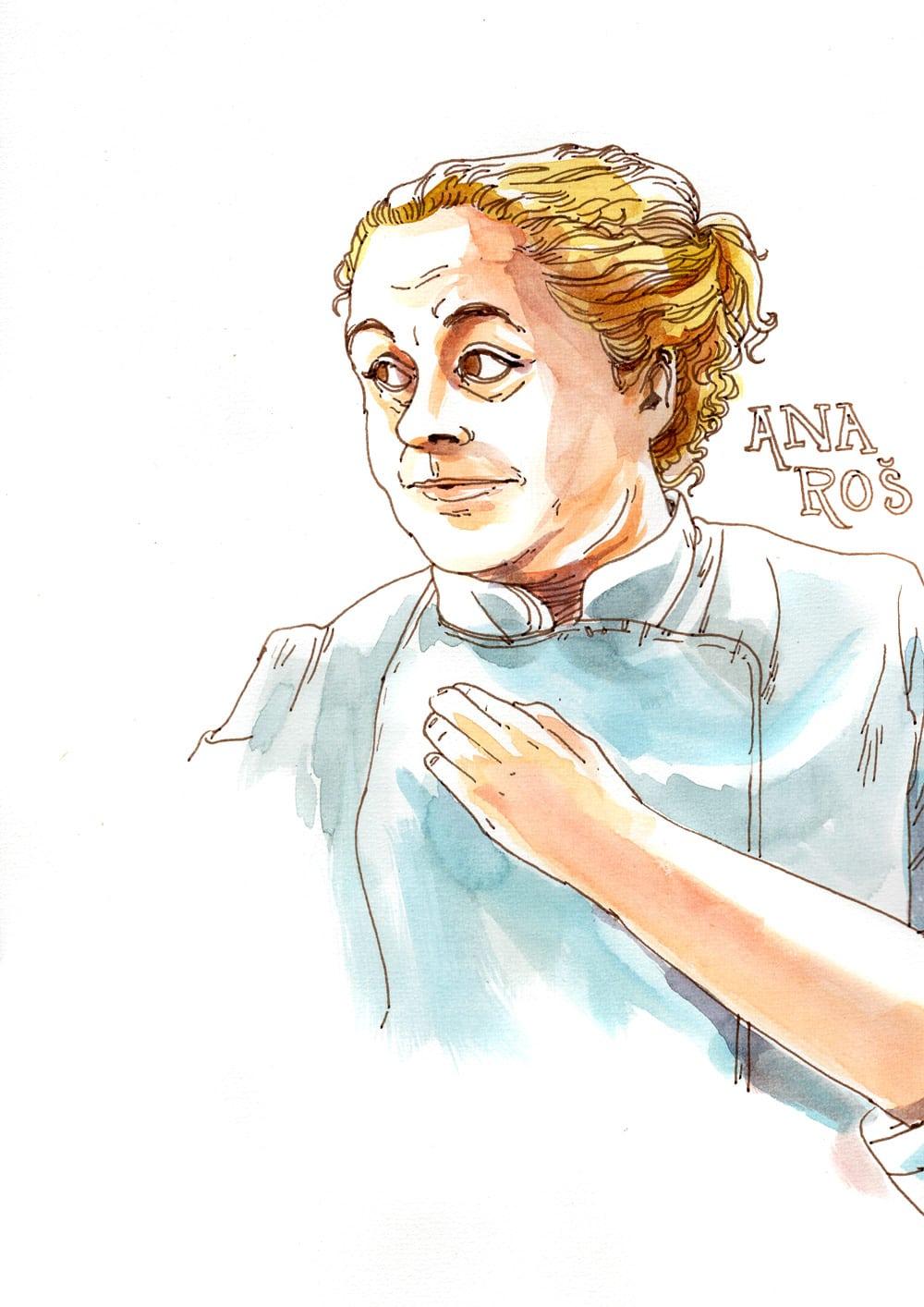 Illustration Chefs de cuisine Ana Ros