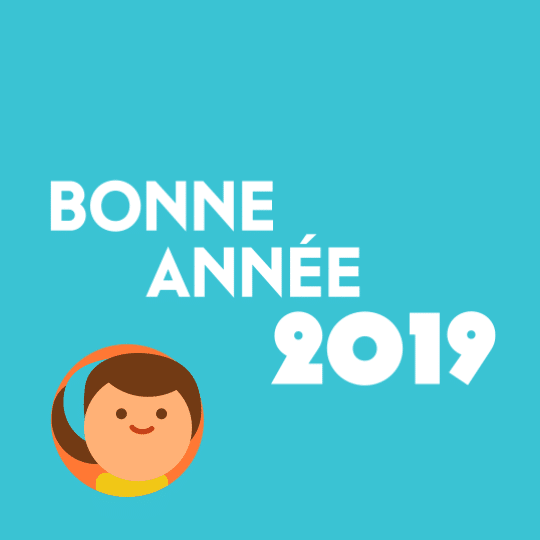 screenshot du motion design carte de vœux 2019