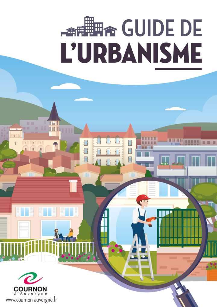 Couverture illustrée du guide de l'urbanisme de la ville de Cournon (Puy-de-Dôme)