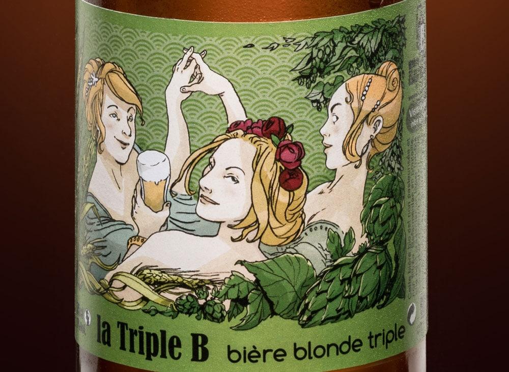 design d'étiquette de bière façon art nouveau
