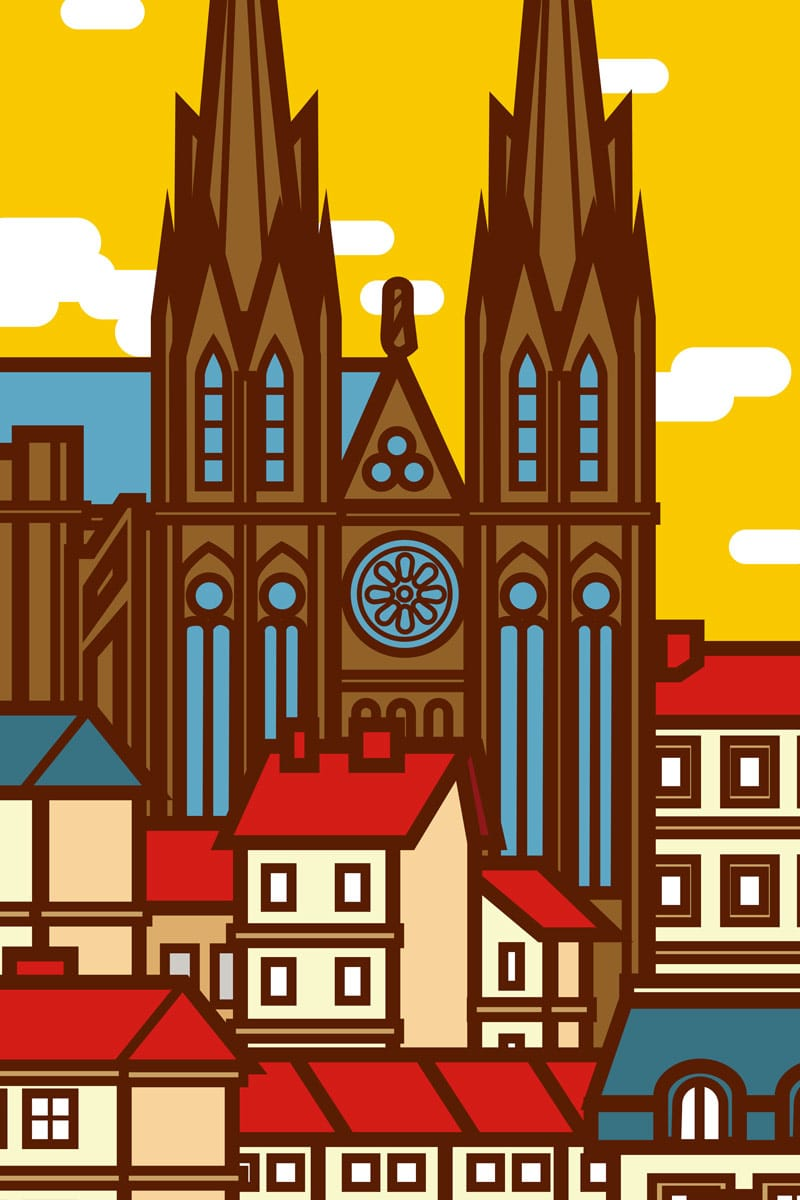 affiche cathédrale clermont ferrand