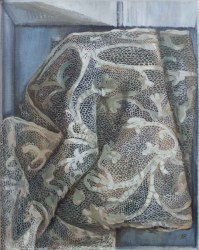 """Lace in Box, oil on linen, 12x10"""" / 30x25cm, Available £1100"""