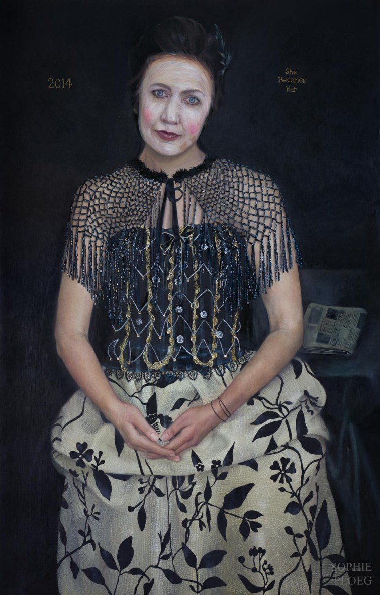 She Becomes Her, Oil on linen, 101.5x66cm, 2014. Sold