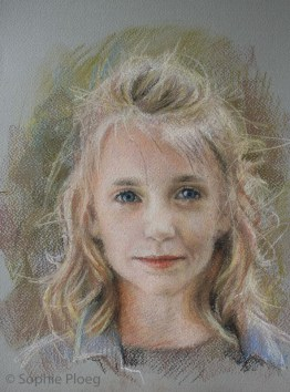 Study of a Girl, Pastel, 30x24cm. Available.