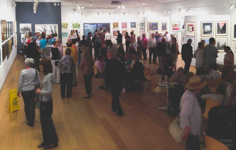 Mall Galleries, London. Pastel Society private view