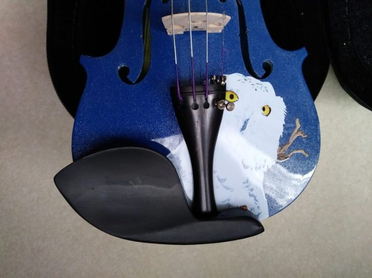 Close-up of Rozanna's Violin: 1/2 Mystic Owl in Blue