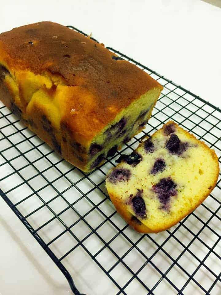 生酮檸檬藍莓磅蛋糕