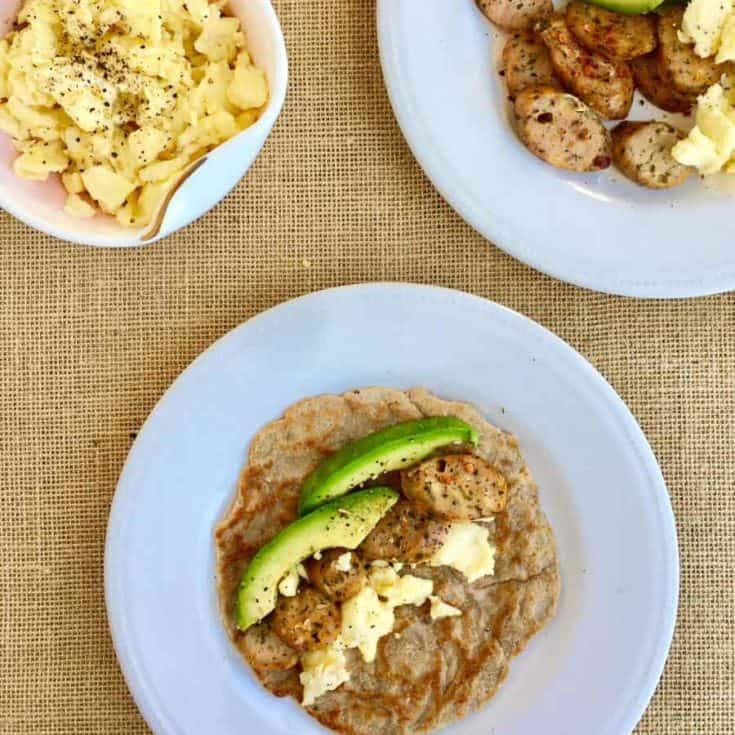 [生酮早餐] 低碳墨西哥捲餅 & 美式炒蛋 – 餅皮淨碳水1g