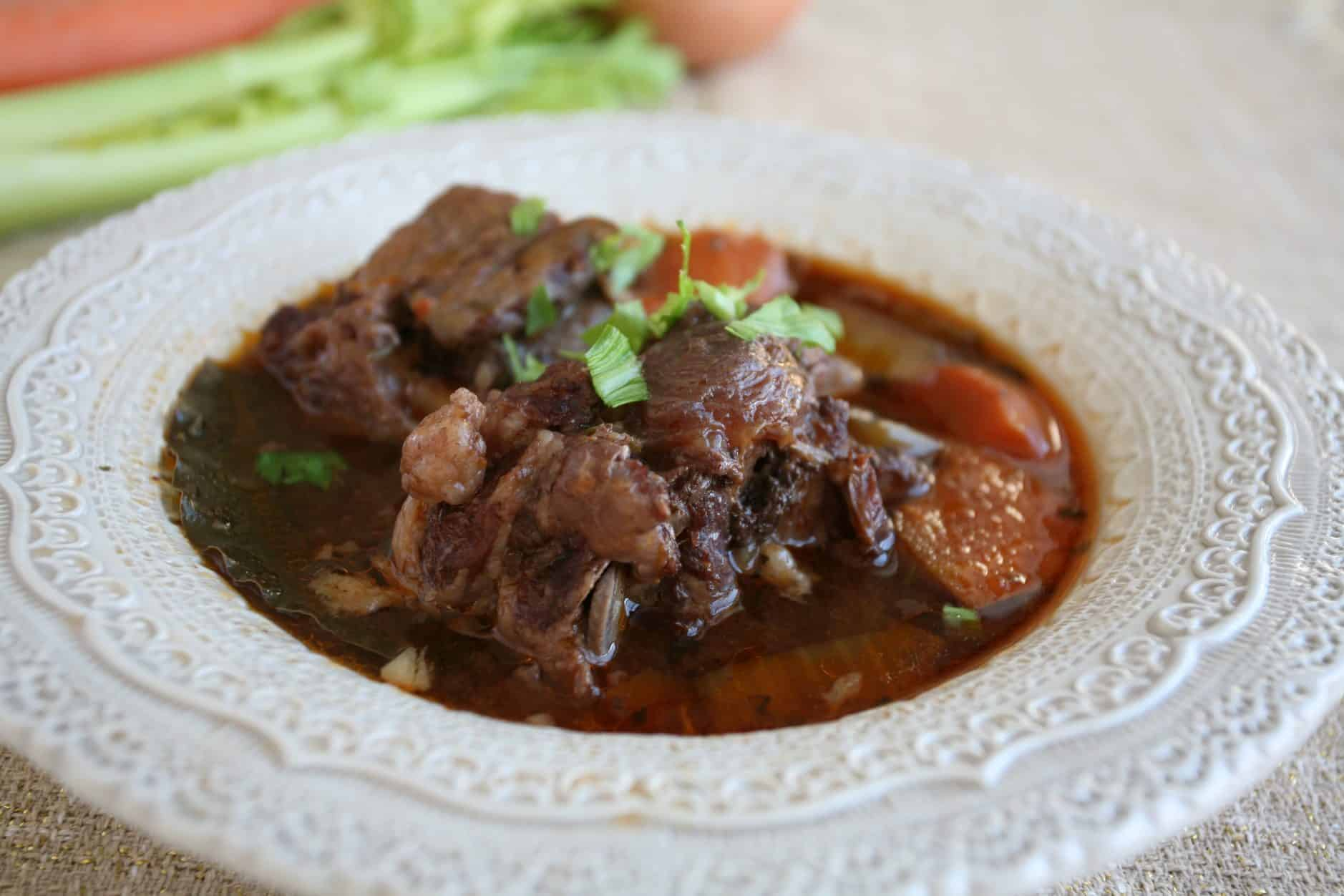 red wine braised oxtail