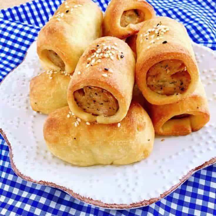 生酮迷你香腸麵包 -免揉免發酵-只要5樣材料!淨碳水2克!