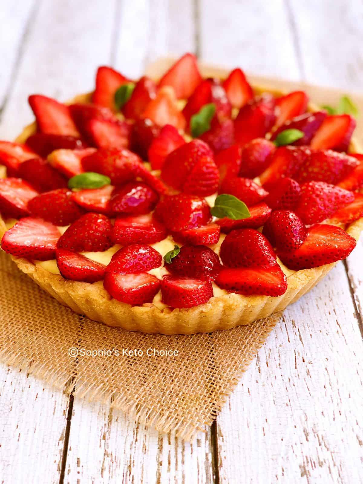 低醣草莓塔 生酮塔皮 食譜