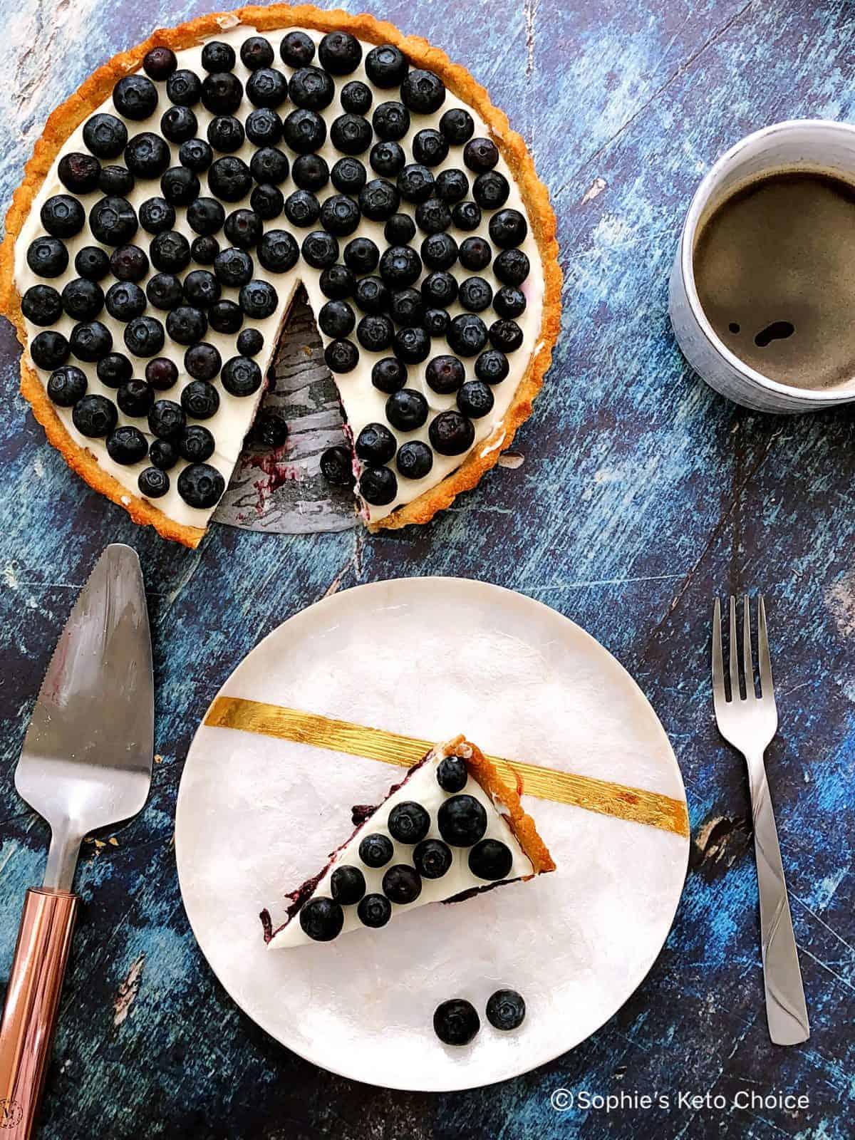 藍莓優格乳酪塔