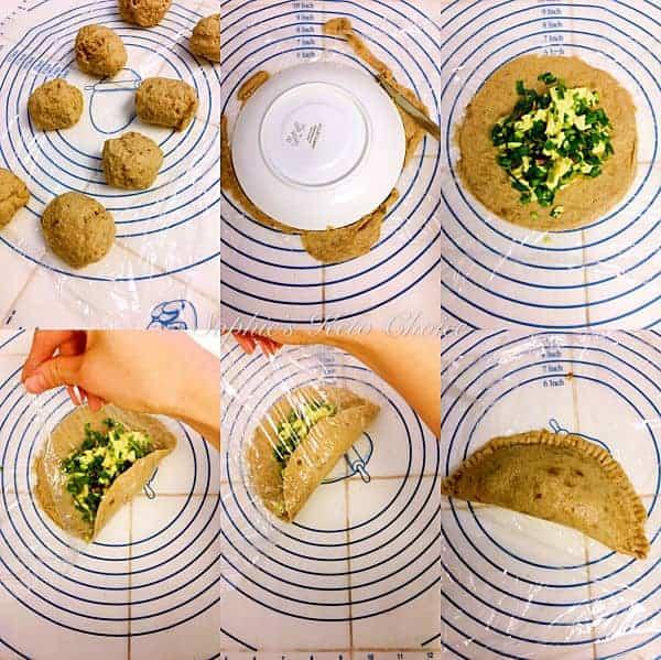 生酮韭菜盒子步驟圖