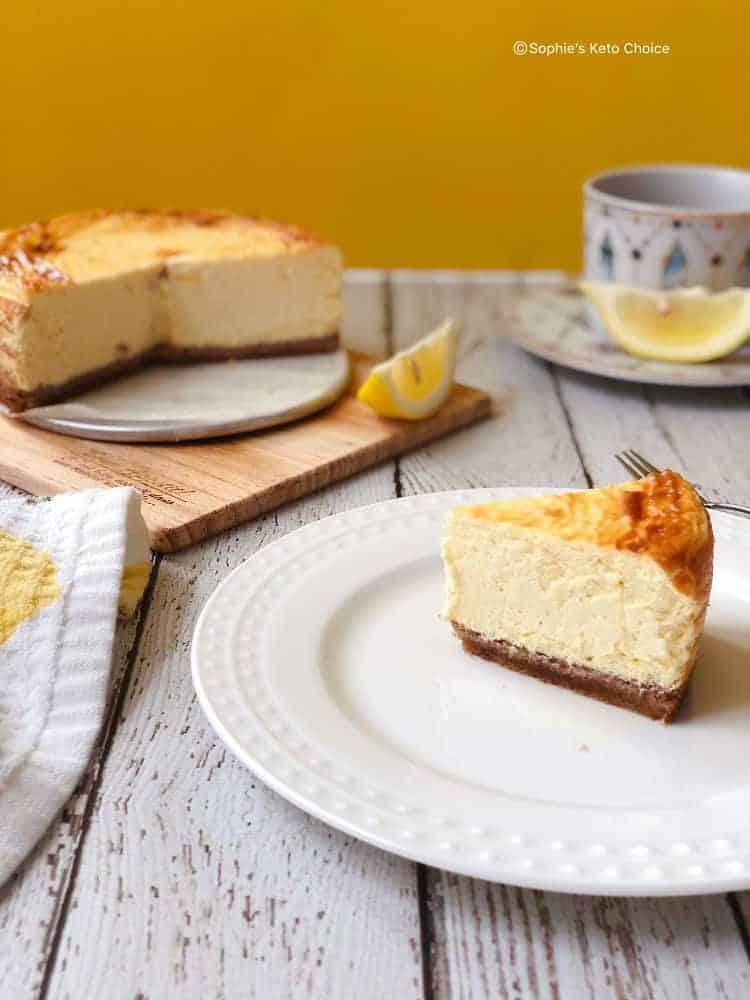 生酮檸檬起司蛋糕 Keto Lemon Cheesecake- 適合夏日的酸V-淨碳水3g