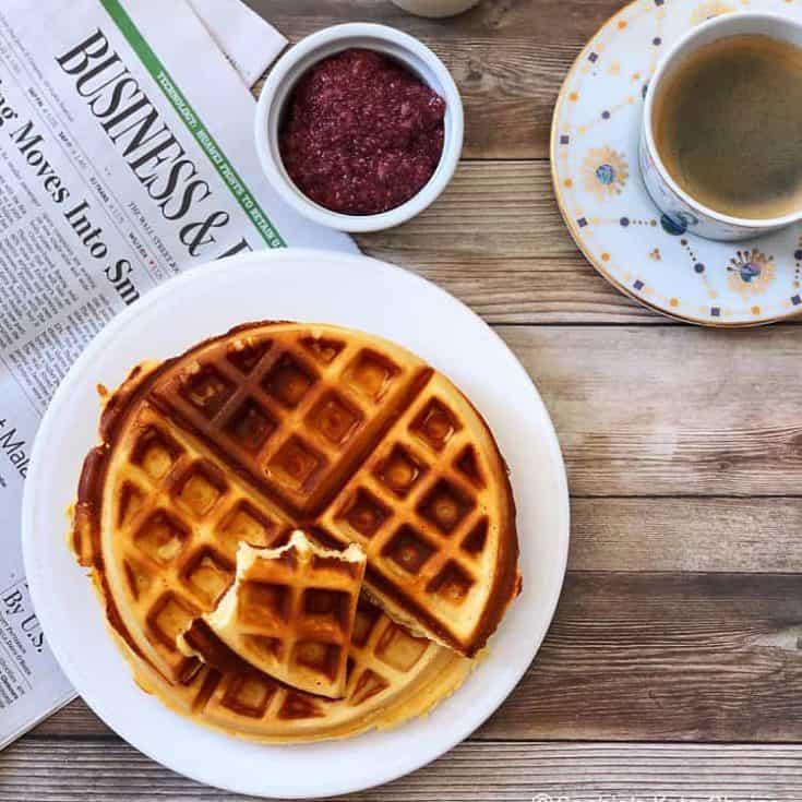 亞麻籽奶油乳酪格子鬆餅 -低糖減醣生酮早餐-免烤無堅果無麩質-10分鐘