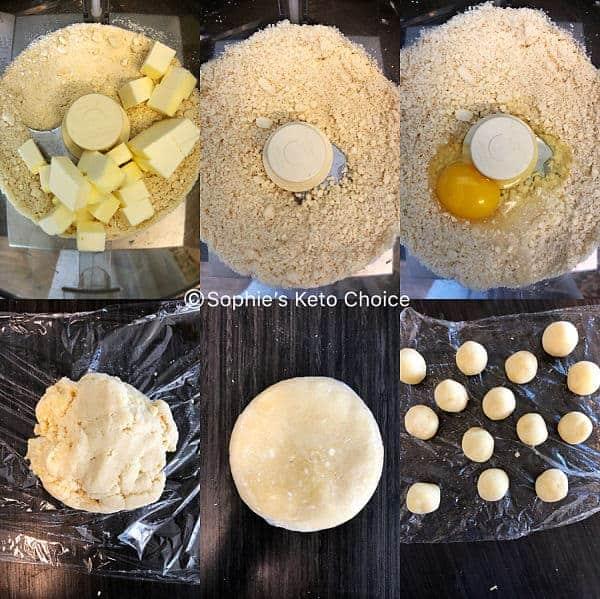 生酮奶黃流心月餅步驟圖