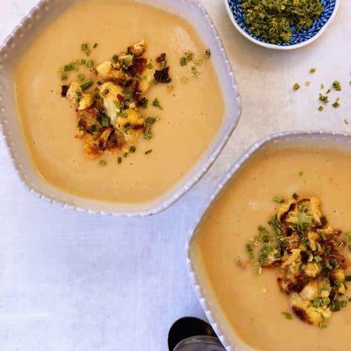 炙烤白花椰菜濃湯