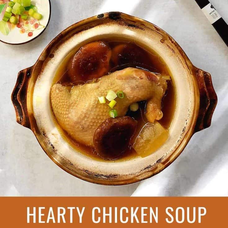 香菇冬瓜雞湯 -在病毒來襲之前先把身體養好!Instant Pot壓力鍋食譜