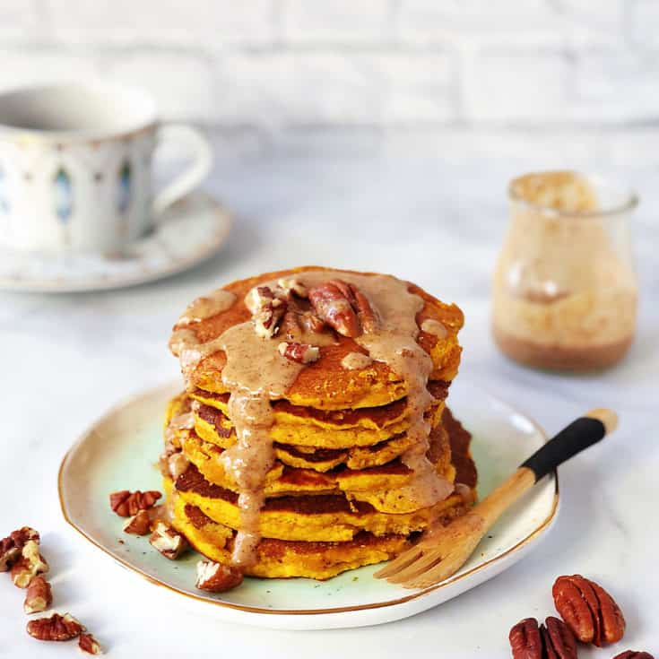 南瓜椰子粉鬆餅 -低碳生酮早餐-無奶無堅果無麩質無麵粉-免烤箱-附影片