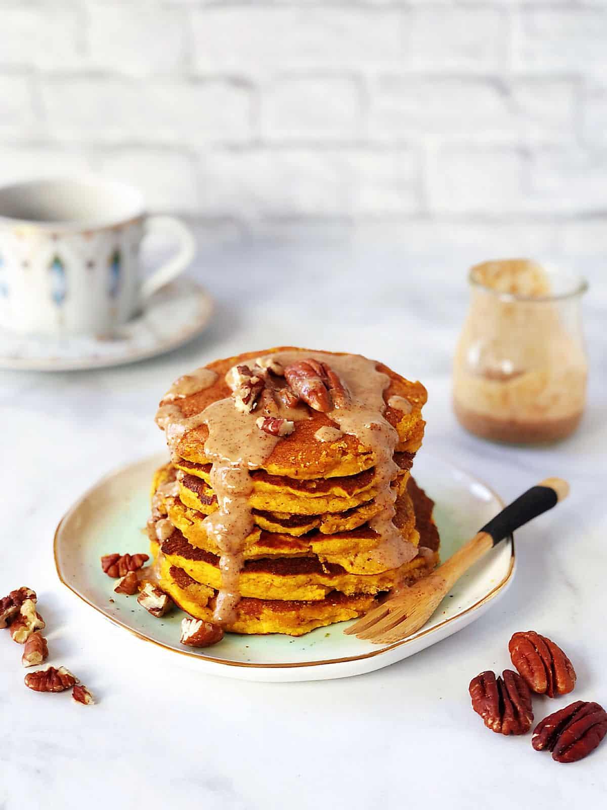 南瓜椰子粉鬆餅 -低糖低碳生酮早餐-無奶無堅果無麵粉-免烤-附影片