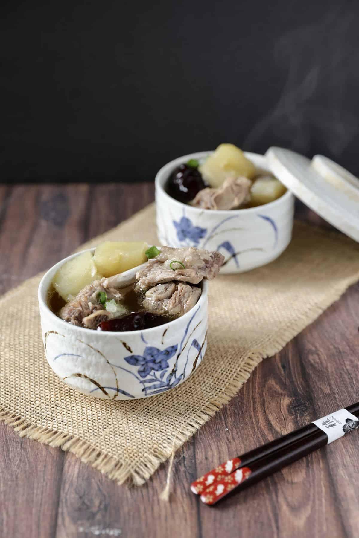 青木瓜排骨湯 -滋補養生發奶湯-Instant Pot壓力鍋食譜