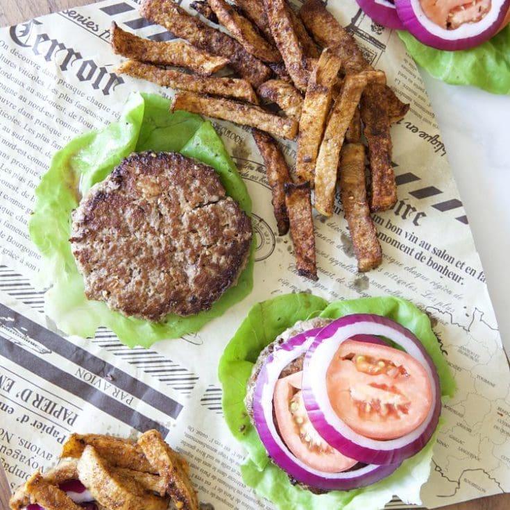 自製 漢堡排 -肉厚多汁生菜漢堡,美味秘訣就看這篇!減醣低醣生酮無麩質
