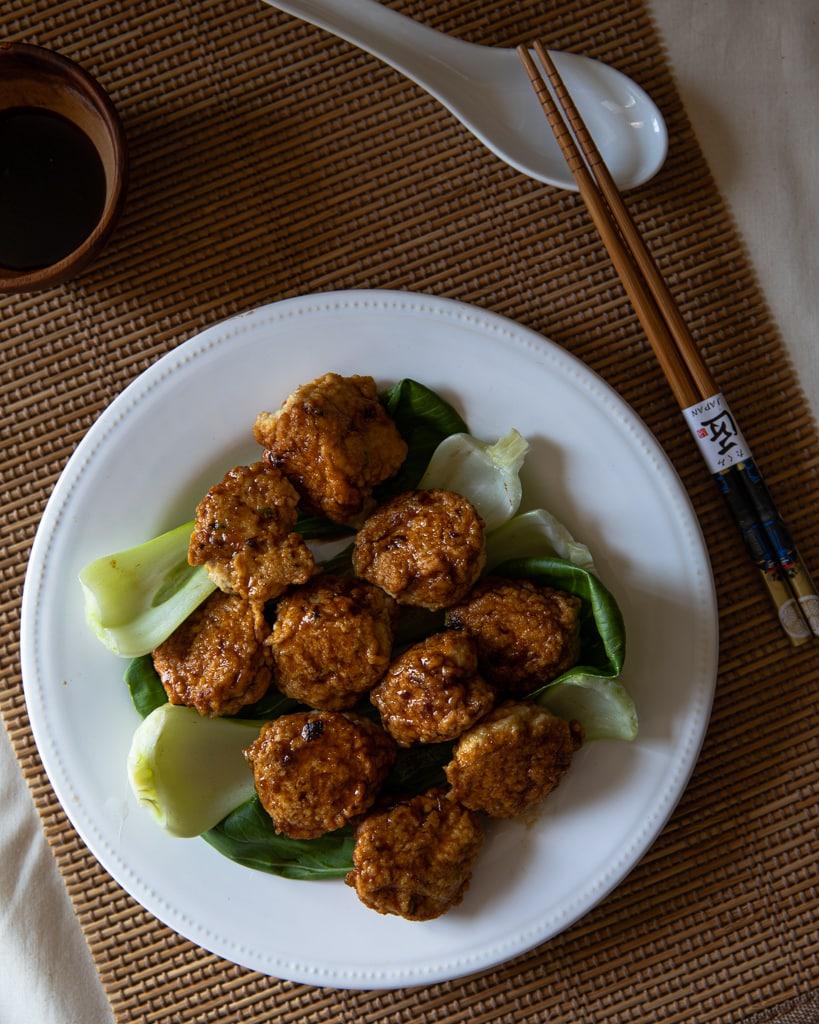雞肉豆腐丸子- 自製Q彈火鍋丸子-免塑形簡單快手-低醣減醣氣炸鍋食譜