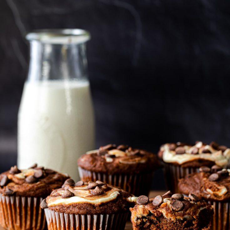 低醣巧克力奶油乳酪馬芬 -簡易情人節甜點- 用巧克力融化他的心❤無麩質