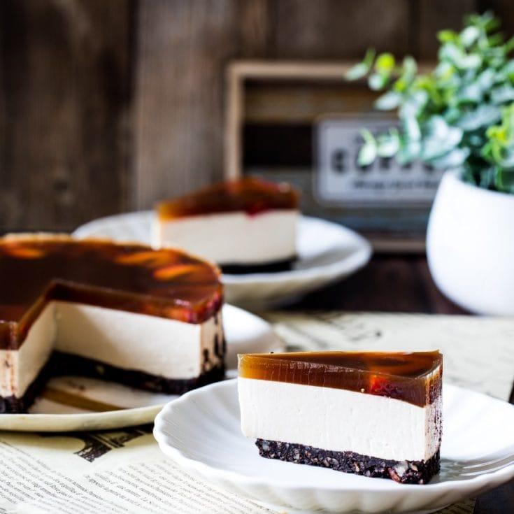 伯爵茶生乳酪蛋糕 &鏡面伯爵茶凍-低醣、生酮、免烤、無麩質