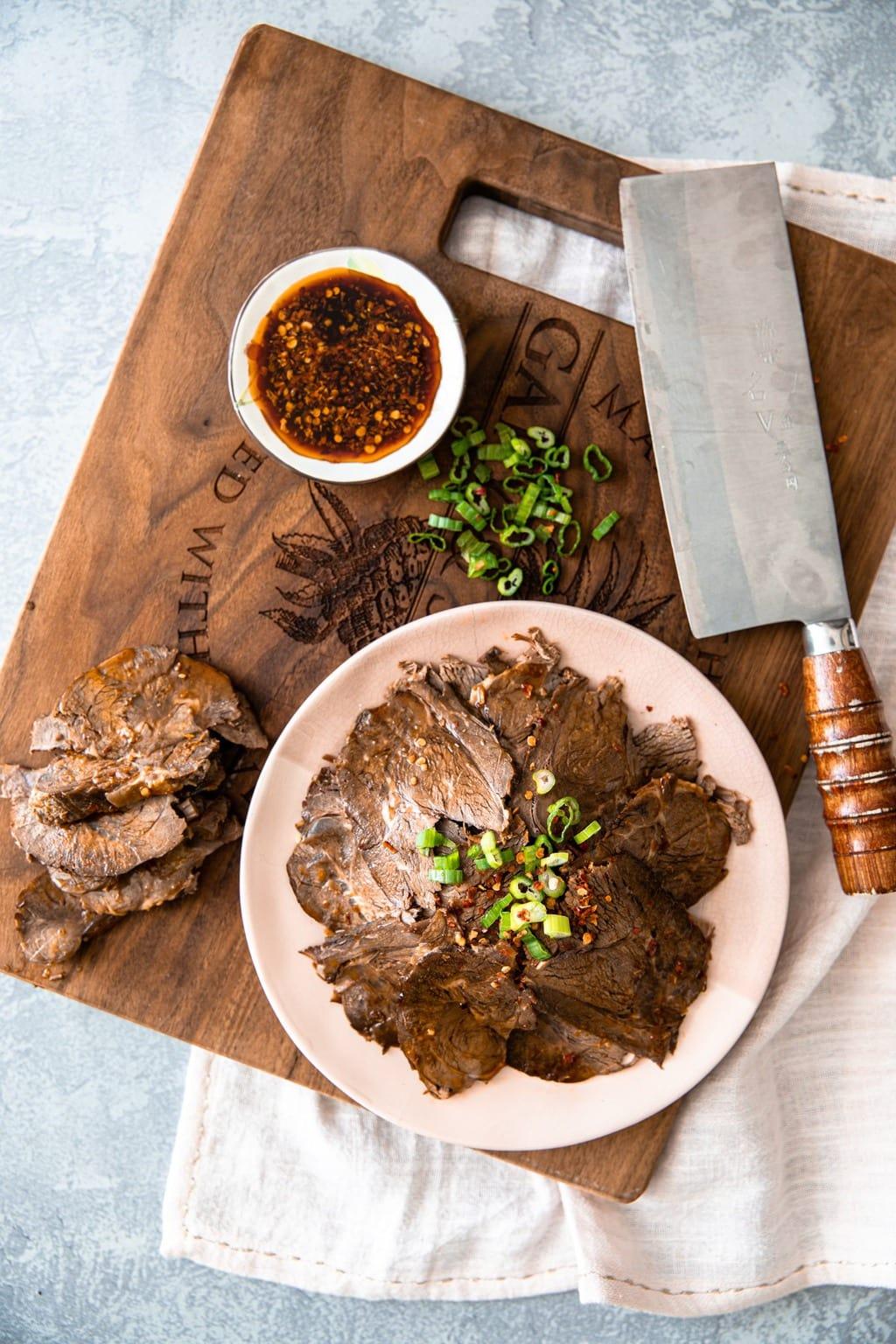 滷牛腱 (醬牛肉)- 入味不柴、軟嫩不爛的秘訣-Instant Pot 壓力鍋中文食譜