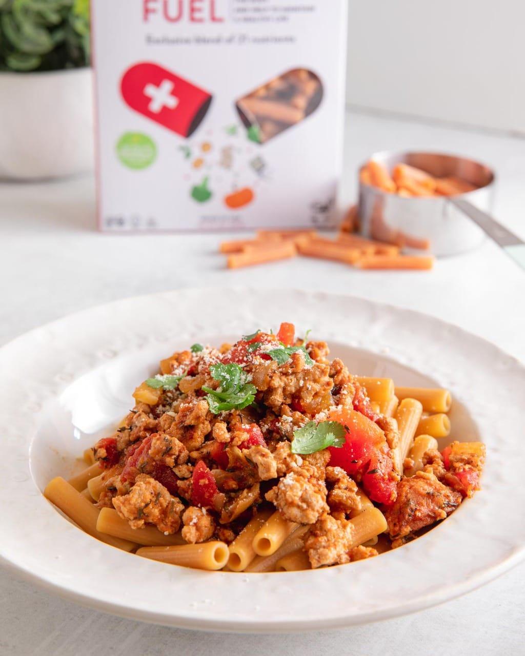 蕃茄肉醬蔬活筆管麵 -用10種蔬菜製成的減醣低卡義大利麵!無麩高纖