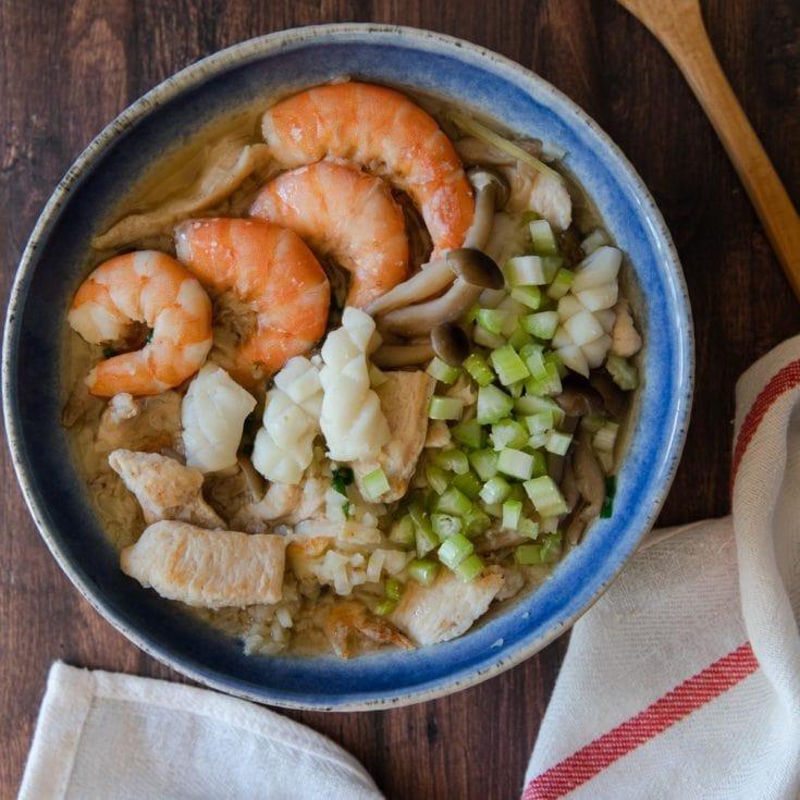無米什錦粥 Cauliflower Congee 🥣呆了!沒想到花椰菜做的粥這麼好吃!