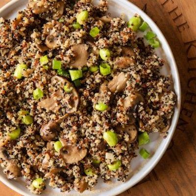 毛豆蘑菇藜麥飯