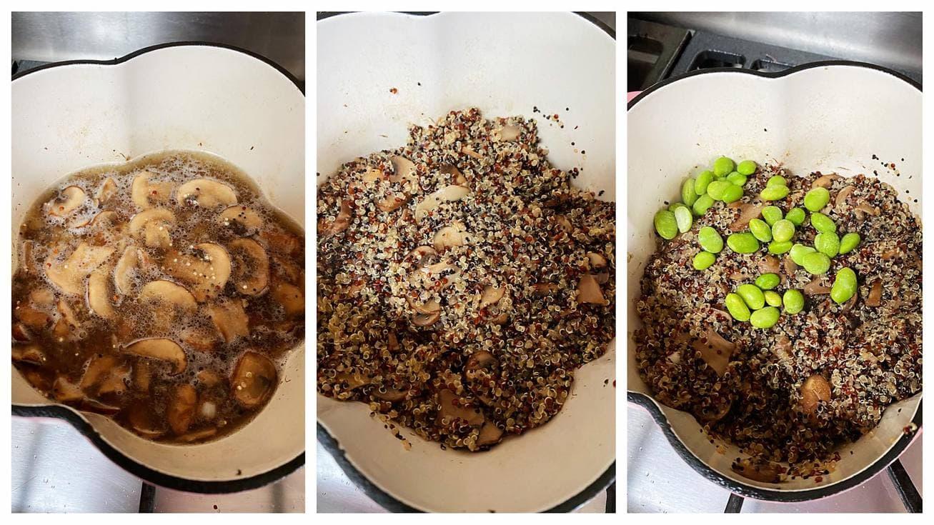 毛豆蘑菇藜麥飯 做法步驟