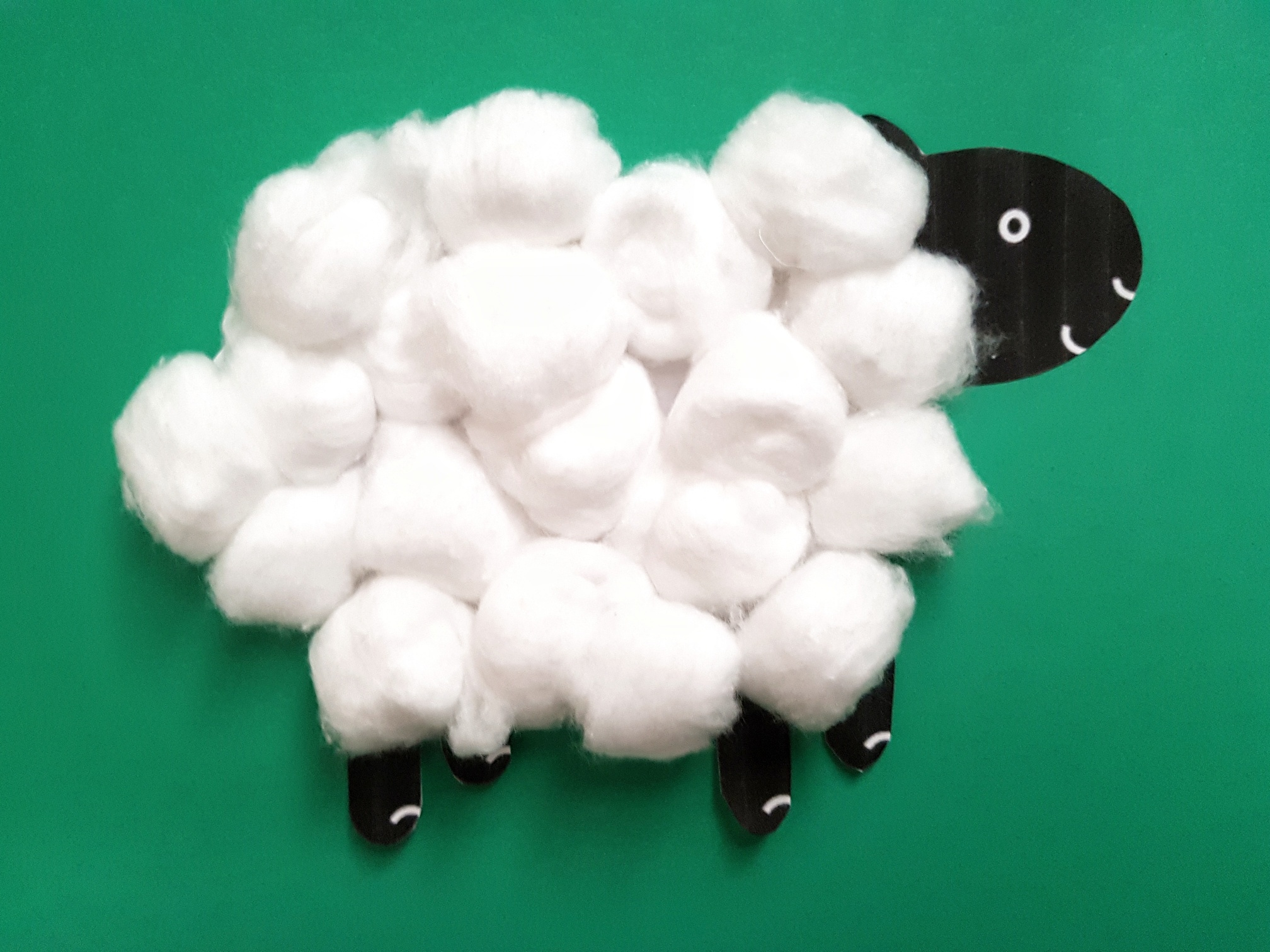 Baa Baa Black Sheep Activities Cotton Wool Sheep